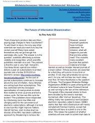 November 1999 - Division of Medical Sciences Bulletin - Harvard ...