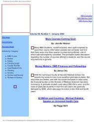 January 2003 - Division of Medical Sciences Bulletin - Harvard ...