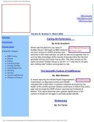 March 2002 - Division of Medical Sciences Bulletin - Harvard ...