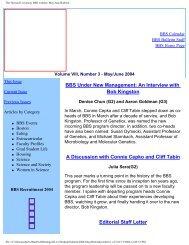 The Harvard University BBS website: May/June Bulletin - Division of ...