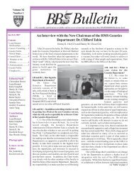 January/February 2007 - Division of Medical Sciences Bulletin