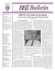 September/October 2007 - Division of Medical Sciences Bulletin