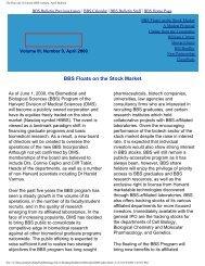 April 2000 - Division of Medical Sciences Bulletin - Harvard University