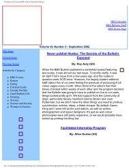 September 2002 - Division of Medical Sciences Bulletin - Harvard ...