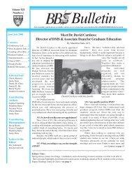 June/July 2008 - Division of Medical Sciences Bulletin