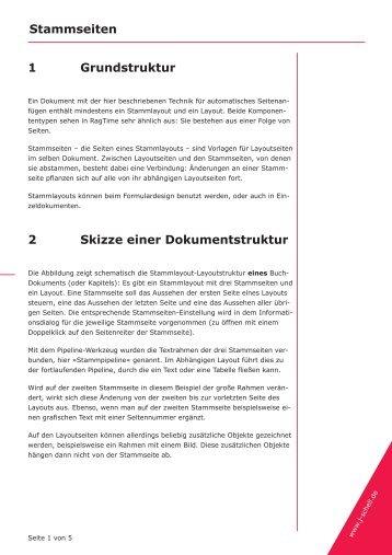 Stammseiten 1 Grundstruktur 2 Skizze einer Dokumentstruktur