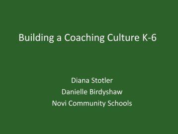 Building a Coaching Culture K-6