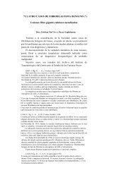 ''CUATRO CASOS DE FIBROBLASTOMA BENIGNO (*) Lesiones ...