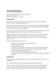 pie plano flexible del niño - Clínica de Traumatología y Ortopedia ...
