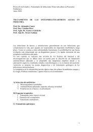 Protocolo de tratamiento de osteomielitis y artritis - Clínica de ...