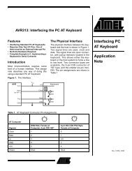 AVR313: Interfacing the PC AT Keyboard Application ... - Gweep.net