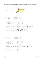 Skizze für alle Aufgaben: P g G a) Fläche A = Abstand Punkt Gerade ...