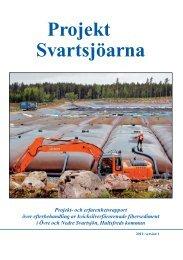 Slutrapport Svartsjöarna - Hultsfred