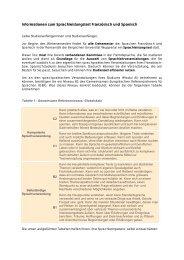 Allgemeine Informationen - Romanistik