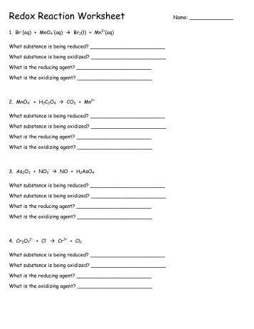 Worksheet – Organic Redox Reactions Certain organic compounds ...