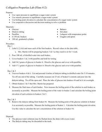 Colligative Properties Worksheet - Key - Name Ki Colligative ...