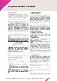 Règlement Sécurité & Incendie - Espace Exposant SIA 2014