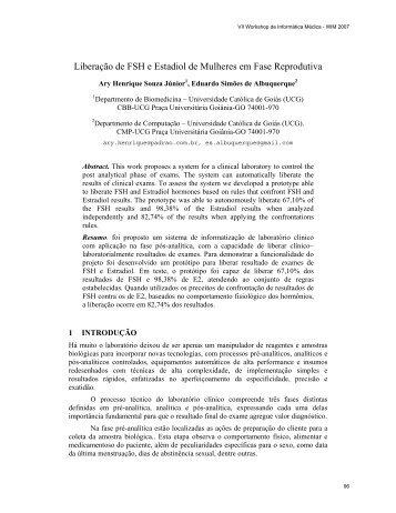 Liberação de FSH e Estadiol de Mulheres em Fase Reprodutiva