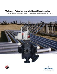 Multiport Actuator - MPA Brochure - Emerson Process Management