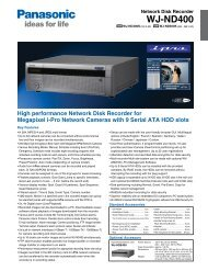 WJ-ND400 - Security Systems - Panasonic