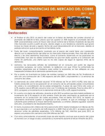 informe tendencias del me tendencias del mercado del cobre rcado ...