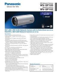 WV-SP105 WV-SP102
