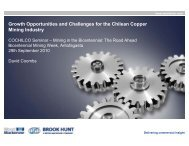 Growth Opportunities and Challenges for the Chilean Copper ...