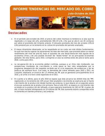 INFORME TENDENCIAS DEL MERCADO DEL COBRE - Cochilco