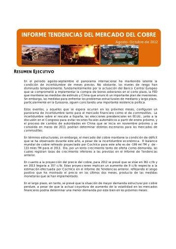 INFORME TENDENCIAS DEL MERCADO DEL COBRE