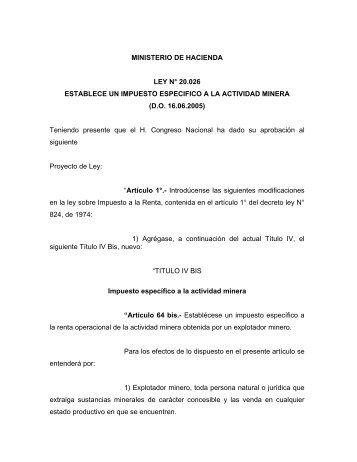 MINISTERIO DE HACIENDA - Comisión Chilena del Cobre