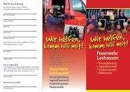 Loshausen: Feuerwehr wirbt um neue Mitglieder