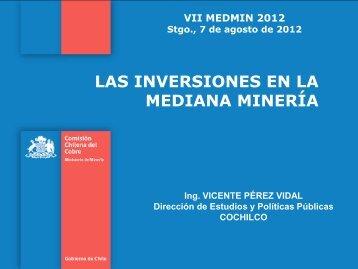 las inversiones en la mediana minería - Comisión Chilena del Cobre