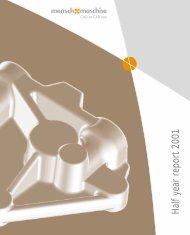 Half year report 2001 - Mensch und Maschine
