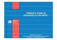 energía para el desarrollo minero