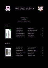 matchday # 04 fiumicino mercoledi 7 novembre 2012 - TSC Black ...