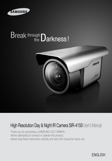 High Resolution Day & Night IR Camera SIR-4150User's Manual