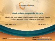 Global Hydraulic Pumps Market Growth, Demand, Analysis, Forecast 2015-2019