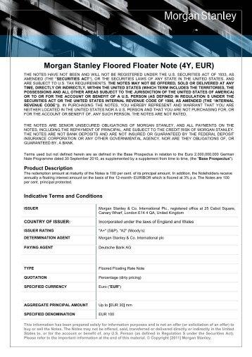Product Description - Morgan Stanley IQ