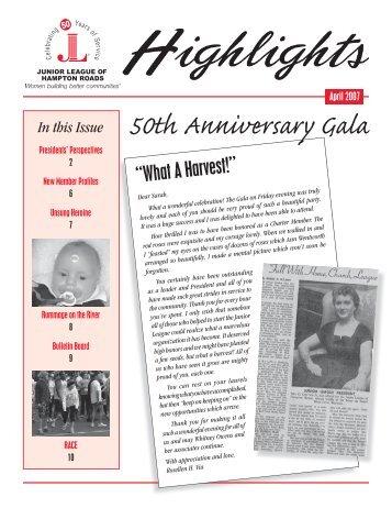 50th Anniversary Gala - Junior League of Hampton Roads