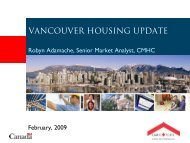 VANCOUVER HOUSING UPDATE - Vancouver Board of Trade