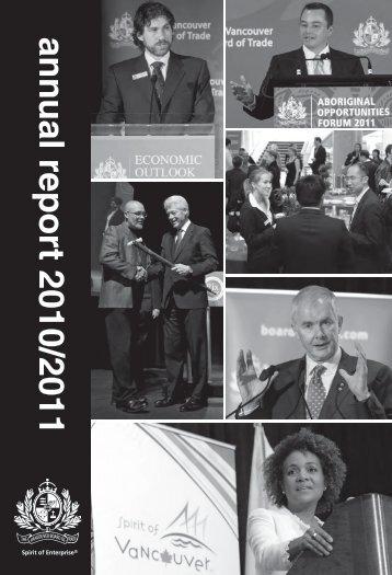 Annual Report 2011 - Vancouver Board of Trade