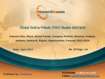 Global Vehicle-to-grid market to grow at a CAGR of 47.68 percent over the period 2014-2019