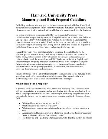 How to write a research proposal harvard university