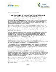 dr. donald rix to be honoured by research chair - Vancouver Board ...