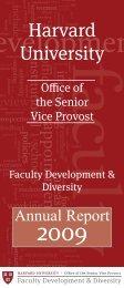 FD&D 2009 Annual Report - Harvard University - Office of Faculty ...