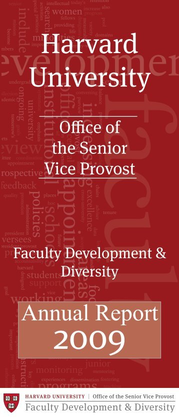 FD&D 2009 Annual Report - Harvard University - Office of Faculty ...