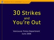 Sentencing Chronic Offenders - Vancouver Board of Trade