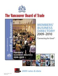 MeMbeRs' business DiReCtoRy - Vancouver Board of Trade