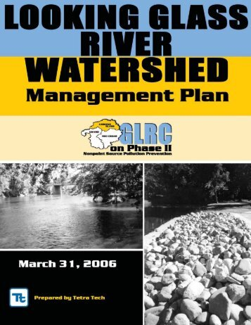 Looking Glass River Watershed Management Plan - Greater ...