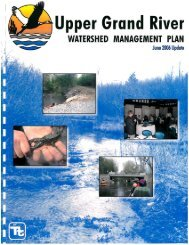 Watershed Management Plan - Upper Grand River Watershed Council